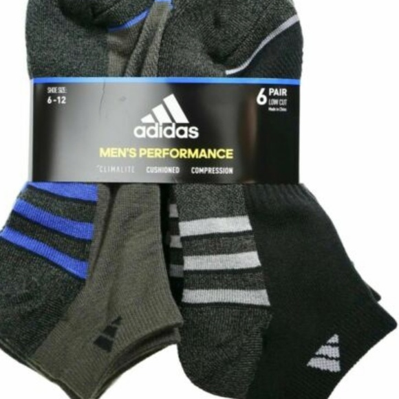 adidas Other - Adidas Men's Low-Cut Performance Socks Size 6-12